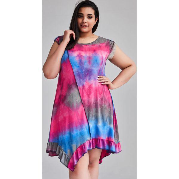 6484037f Dzianinowa tunika sukienka Lea OMBRE duże rozmiary OVERSIZE PLUS SIZE