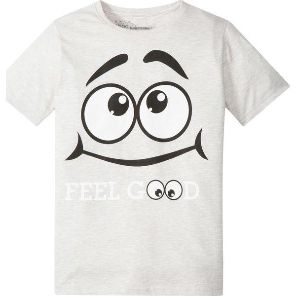 c715553ae90cd T-shirt z modnym nadrukiem bonprix biel wełny melanż z nadrukiem ...