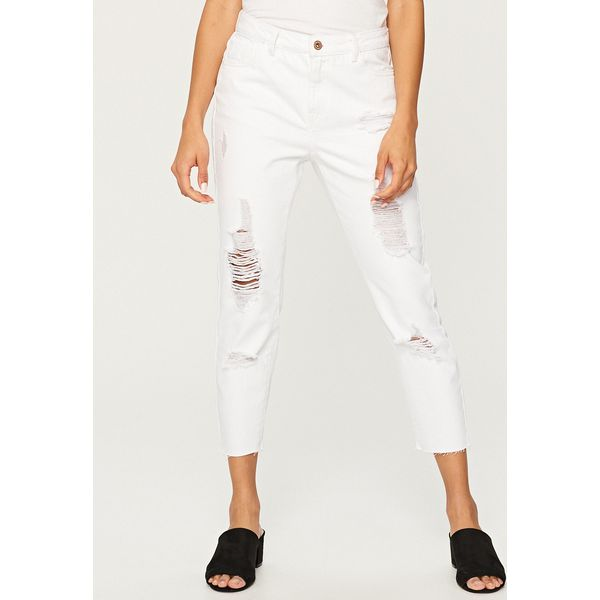 99b88d67 Białe jeansy z dziurami - Biały