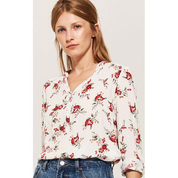 Zaktualizowano Bluzka koszulowa - Kremowy - Białe bluzki damskie marki House, z YK28
