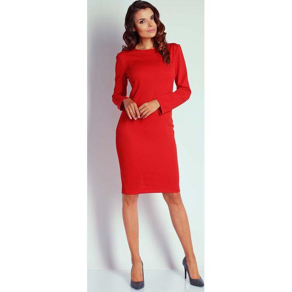 0e7db32a24 Czerwona Dopasowana Sukienka przed Kolano - Czerwone sukienki ...