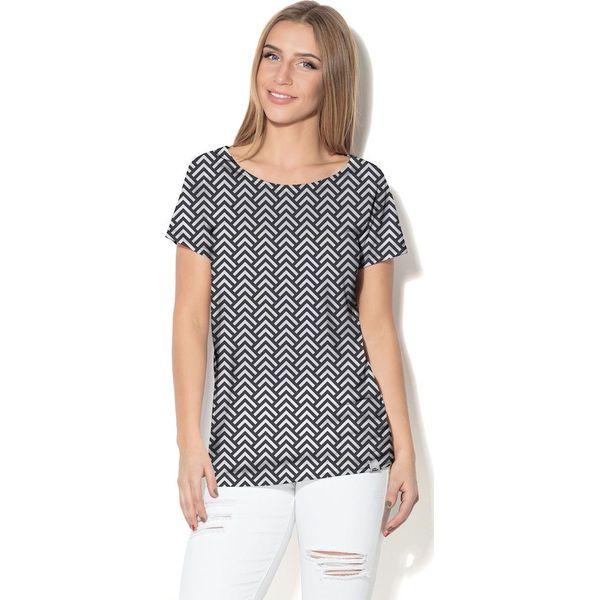 60d7c1b625 Colour Pleasure Koszulka CP-034 169 czarno-biała r. XXXL XXXXL - Białe  koszulki damskie marki Colour Pleasure. Za 70.35 zł. - Koszulki damskie -  Koszulki i ...