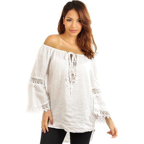 e4ee39e808 Lniana tunika w kolorze białym - Białe tuniki damskie marki ...