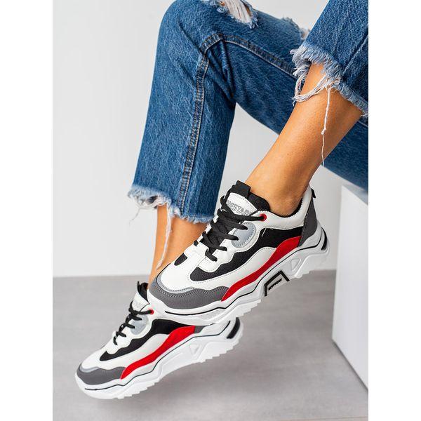 wielokolorowe buty sportowe sneakersy sznurowane casu 20h5g