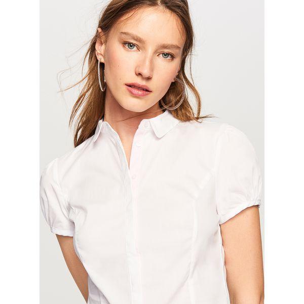 Body Damskie Biały Marki Koszula Koszule ReservedW Typu Białe j5L4AR