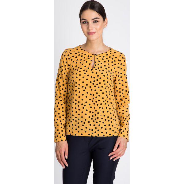 f1f0c7361170f2 Musztardowa bluzka w czarne grochy QUIOSQUE - Bluzki damskie ...