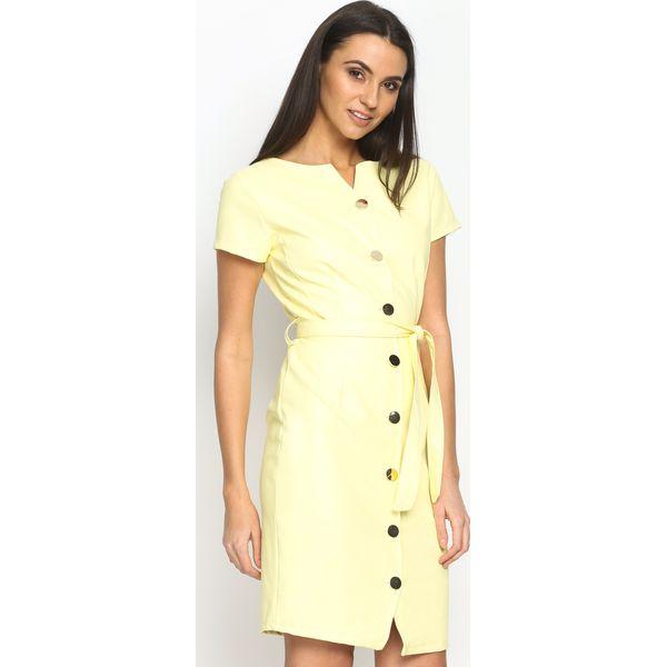 4f3d1fc655 Żółta Sukienka Waistband - Żółte sukienki damskie marki Born2be. Za ...