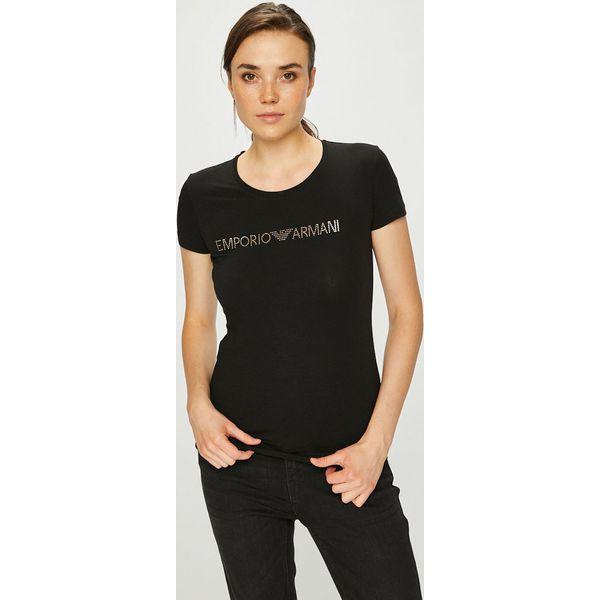 bd98d799af62a Emporio Armani - Top - Brązowe t-shirty damskie marki Emporio Armani ...