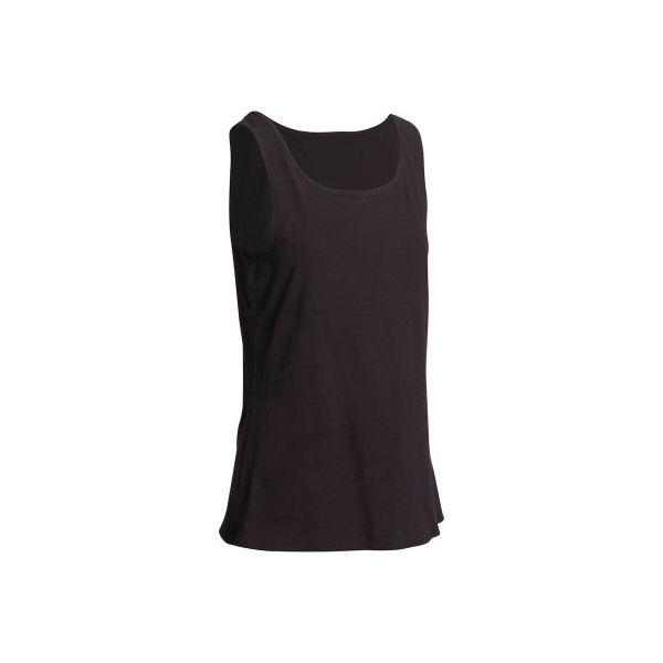 42484db83c99ef Koszulka bez rękawów Gym & Pilates 100 damska - Czarne koszulki ...