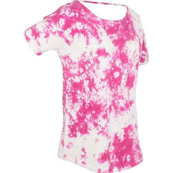 74b99bf3ca19c T-shirt batikowy, krótki rękaw bonprix różowa magnolia z nadrukiem ...