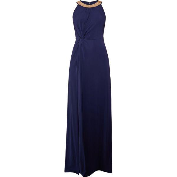 cd16dcc2a3091 MICHAEL Michael Kors ELEV BEAD TWIST Długa sukienka true navy - Niebieskie  sukienki damskie marki MICHAEL Michael Kors, z dżerseju, z długim rękawem.
