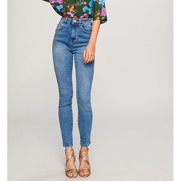 0ca7408063b11d Jeansy z wysokim stanem - Niebieski - Niebieskie jeansy damskie ...