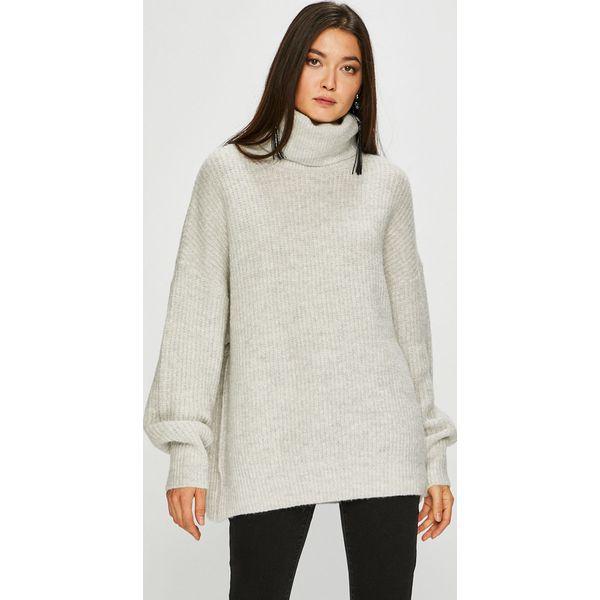 Sweter Basic Marki Swetry Medicine Szare Damskie Klasyczne 1AnpOp