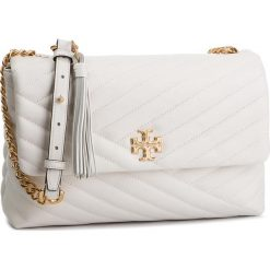 73fa37476ccc3 Torebka TORY BURCH - Kira Chevron Flap Shoulder Bag 53102 New Ivory 104. Listonoszki  damskie