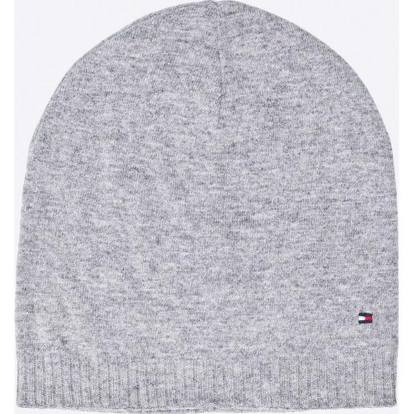 2e207d066f43ff Tommy Hilfiger - Czapka - Szare czapki damskie Tommy Hilfiger, na zimę, z  bawełny. W wyprzedaży za 129.90 zł. - Czapki damskie - Czapki i kapelusze  damskie ...