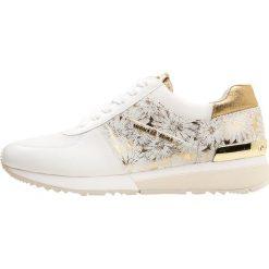 583f3d46834dd MICHAEL Michael Kors ALLIE TRAINER Tenisówki i Trampki optic white gold.  Białe obuwie sportowe ...