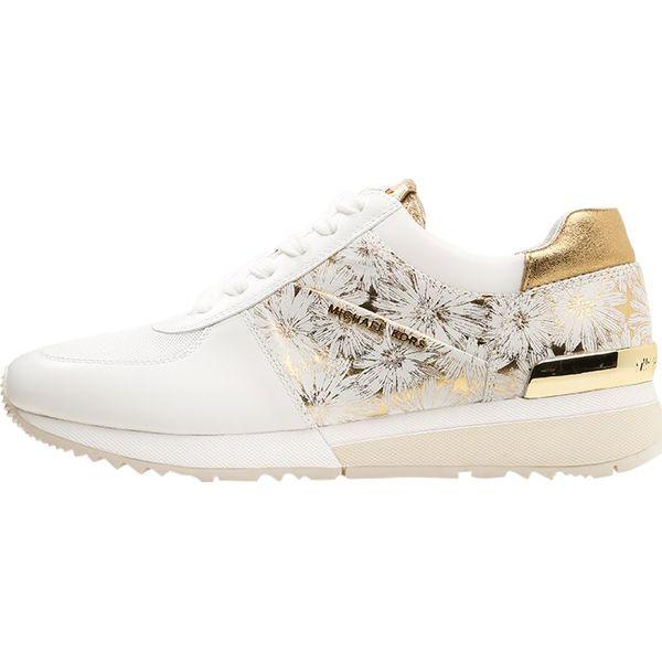 b9d520ba4d523 MICHAEL Michael Kors ALLIE TRAINER Tenisówki i Trampki optic white gold -  Białe obuwie sportowe damskie marki MICHAEL Michael Kors