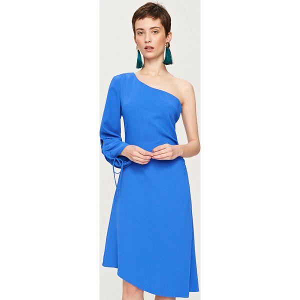0b12f0bb2f Sukienka na jedno ramię - Niebieski - Sukienki damskie marki ...