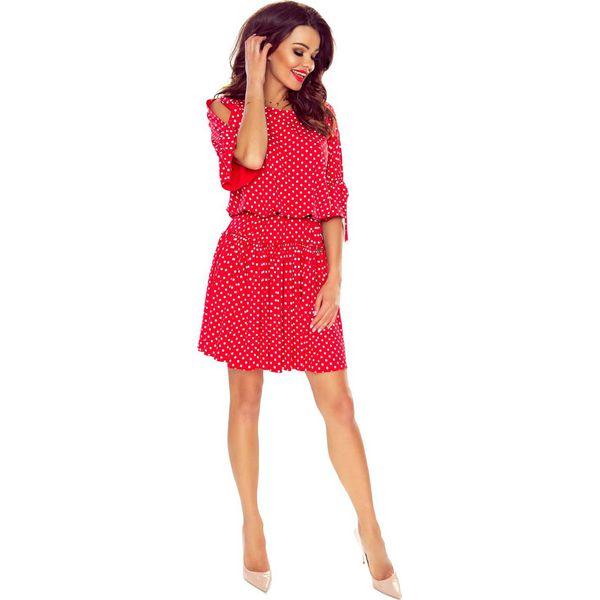 b066f5c25f59a4 Czerwona Sukienka w Stylu Boho w Groszki - Czerwone sukienki damskie ...