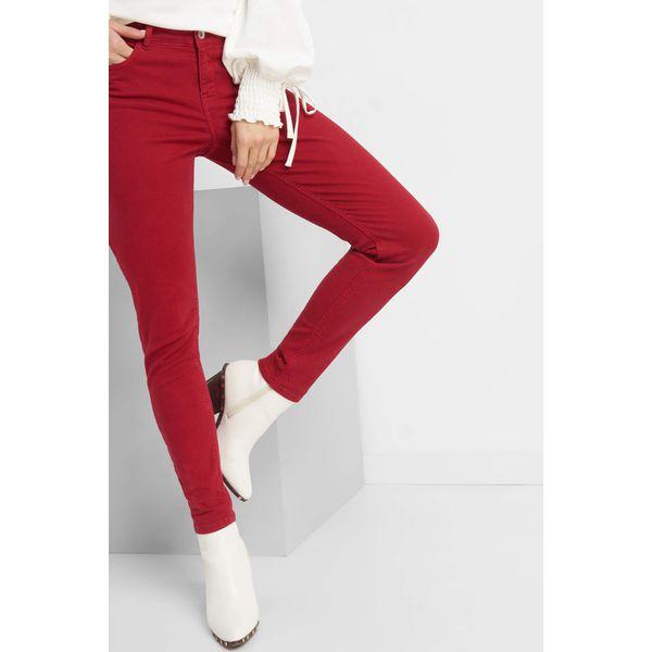 57453d4230e2 Jeansy skinny - Czerwone jeansy damskie marki Orsay