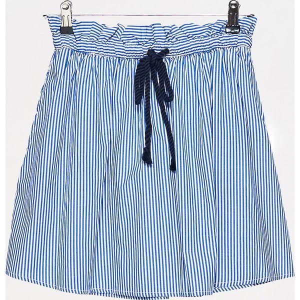 e914d11084 Spódnica w paski paperbag - Granatowy - Spódnice damskie marki Cropp ...