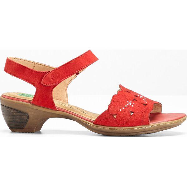 26bb647a22d6e2 Wygodne sandały skórzane bonprix czerwony - Sandały damskie bonprix ...