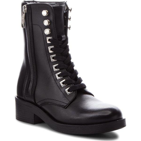 ca3b055f455ae Botki GUESS - FLZEL3 LEA10 BLACK - Czarne botki damskie marki Guess ...
