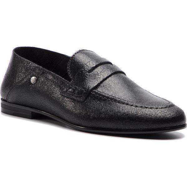 d81f7355dc2a2 Lordsy TOMMY HILFIGER - Crackle Metallic Flat Loafer FW0FW03929 Black 990 -  Półbuty damskie marki Tommy Hilfiger. W wyprzedaży za 459.00 zł.