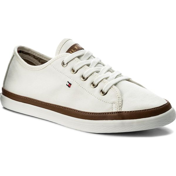 5955e4e692bee Tenisówki TOMMY HILFIGER - Iconic Kesha Sneaker FW0FW02823 Whisper ...