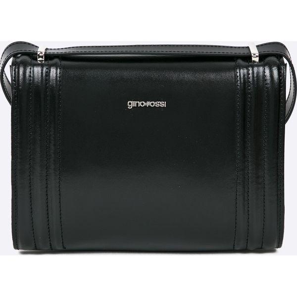 11566b5dac8a2 Gino Rossi - Torebka skórzana Londyn - Czarne torebki klasyczne ...
