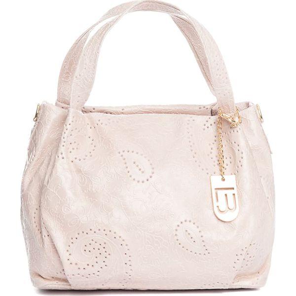 6131d2c9acac8 Skórzana torebka w kolorze jasnoróżowym - 32 x 30 x 18 cm - Czerwone torebki  klasyczne damskie marki Best of Italian Bags