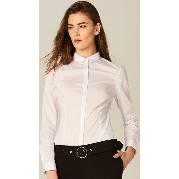 1d8ba695b62462 Klasyczna koszula - body - Biały - Białe koszule damskie Mohito ...