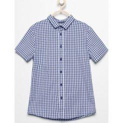 38df505389 Koszula z krótkim rękawem - Granatowy. Bluzki i koszule dziewczęce marki  Reserved.