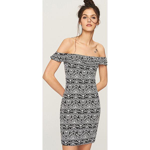 d233752f2f5172 Dopasowana sukienka - Wielobarwn - Szare sukienki damskie marki ...