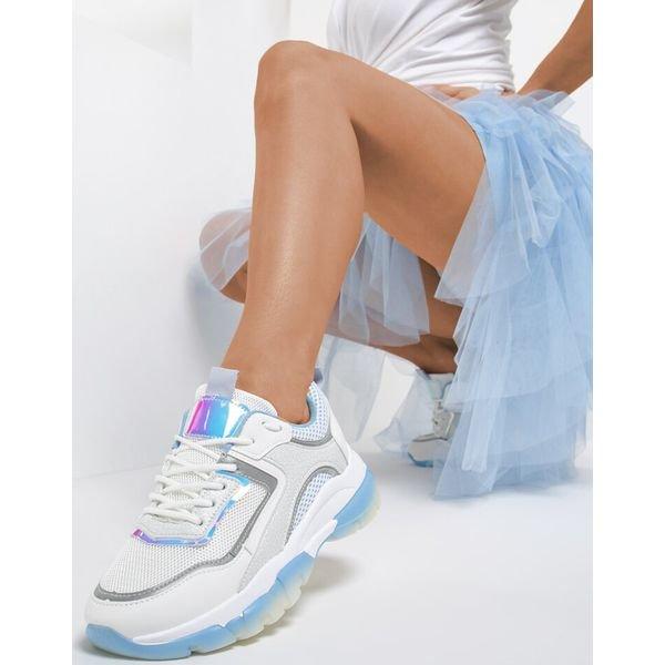 Biało Niebieskie Sneakersy Prosymeina