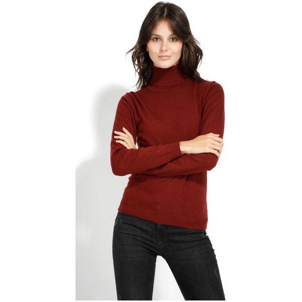 ca0ecf701f9b1 William De Faye Sweter Damski Xl Burgund - Czerwone swetry klasyczne ...