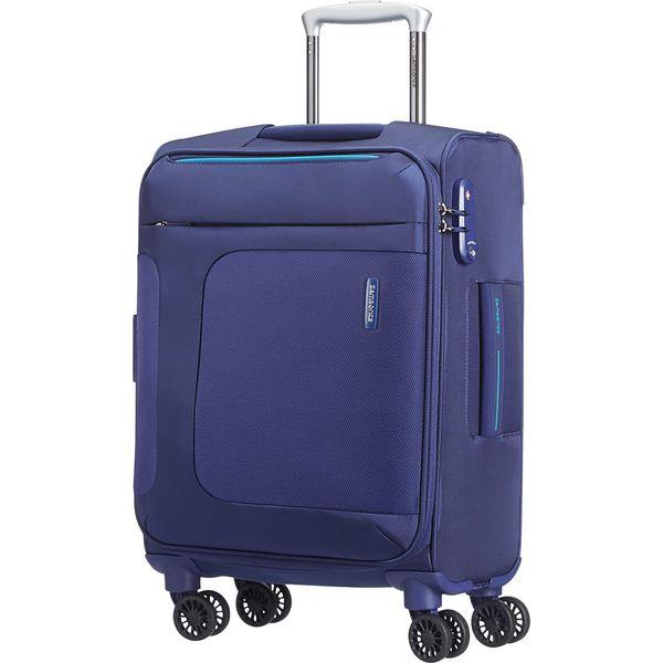 c97745dfc6320 Walizka w kolorze niebieskim - 40 x 55 x 20 cm - Niebieskie walizki marki  Samsonite, z materiału. W wyprzedaży za 304.95 zł. - Walizki - Torby i  plecaki ...