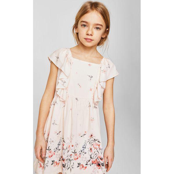 26d3f42983 Mango Kids - Sukienka dziecięca Lima 110-152 cm - Szare sukienki dziewczęce  marki Mango Kids