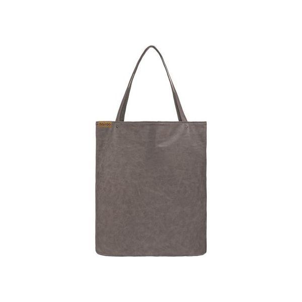 50b0936b2b5ef Shopper bag XL brązowa klasyczna torba na zamek Vegan - Brązowe shopper bag  marki Hairoo