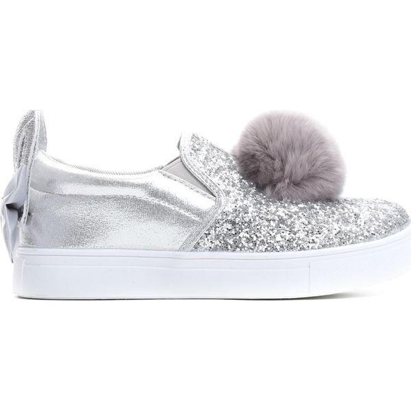 daa698bc78b9c Szare Slip On Luminous - Szare buty sportowe dziewczęce marki ...