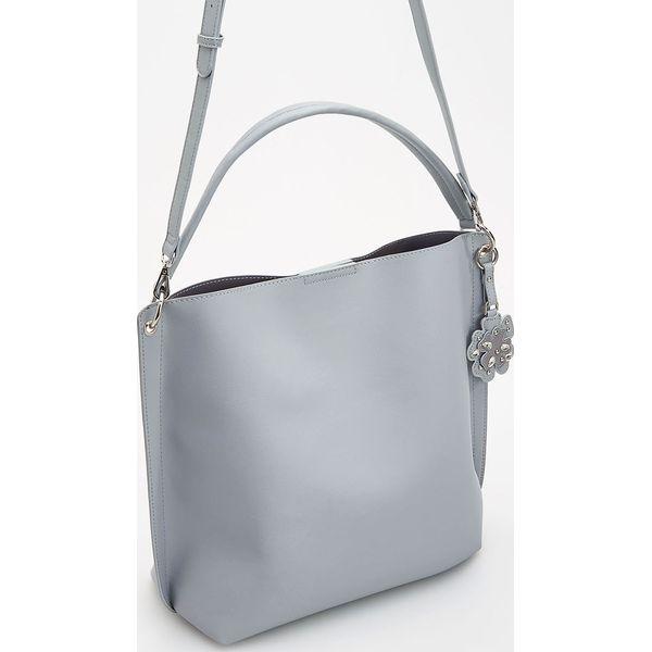 2403fd8a450e3 Szara torebka typu shopper - Niebieski - Niebieskie shopper bag ...