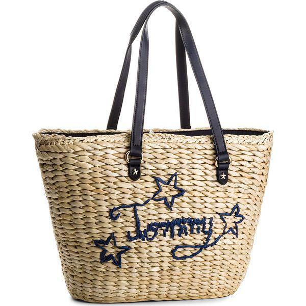 1a53b3f3b75cc Torebka TOMMY HILFIGER - Th Straw Tote AW0AW04969 901 - Shopper bag ...