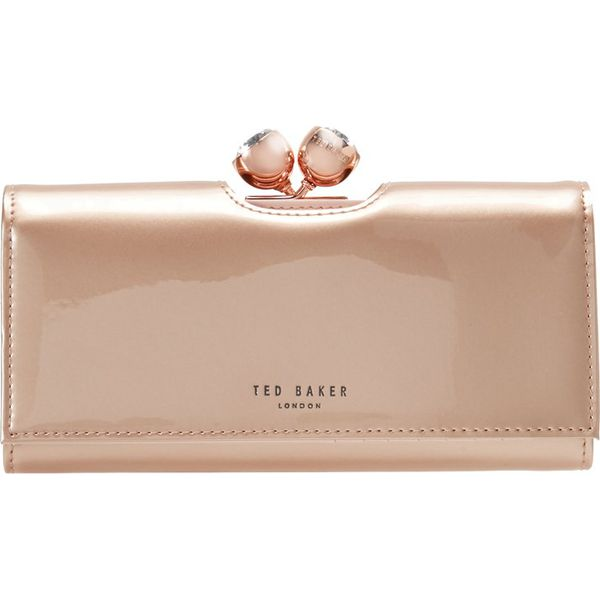 d5c880ad024c0 Ted Baker HONEYY TWISTED BOBBLE PATENT MATINEE Portfel rosegold ...
