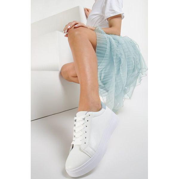 Biało Niebieskie Sneakersy Heliteia