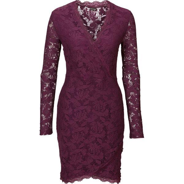 affd21004 Sukienka koronkowa bonprix lila - Fioletowe sukienki damskie bonprix ...