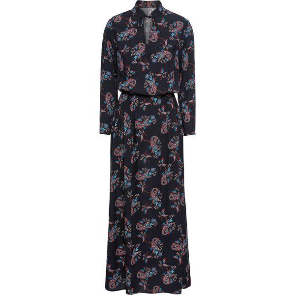bae5254bc0 Sukienka midi bonprix czarno-czerwony paisley - Sukienki damskie ...