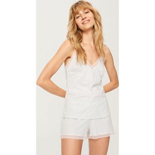 4fd3685cd9b53c Dwuczęściowa piżama - Jasny szar - Piżamy damskie marki Reserved. W ...