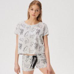 2862a2fa277c72 Dwuczęściowa piżama w koty - Jasny szary. Piżamy damskie marki Sinsay. Za  39.99 zł