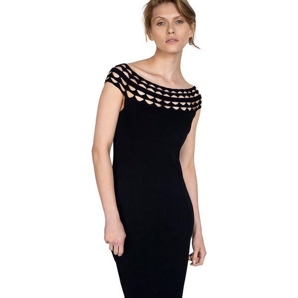49a682f861 Sukienka w kolorze czarnym - Czarne sukienki damskie marki Wiosenna ...