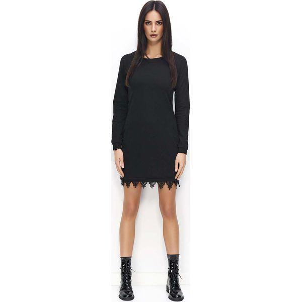 0d866d9904ae0b Czarne sukienki damskie Molly.pl, z długim rękawem - Kolekcja lato 2019 -  Butik - Modne ubrania, buty, dodatki dla kobiet i dzieci